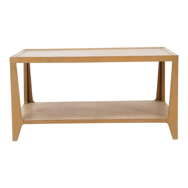 Edward Wormley Leather Top Coffee Table For Sale