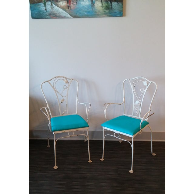 Mid-Century Modern Salterini Magnolia Group Iron Chairs - Set of 4 For Sale - Image 3 of 8