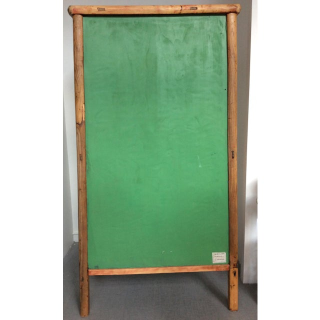 Retro Chinese Upholstered Armoire - Image 4 of 10