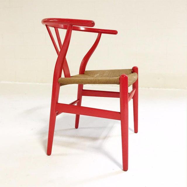 Rush Vintage Hans Wegner Model Ch24 Wishbone Chair For Sale - Image 7 of 8