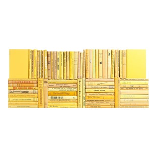 Midcentury Yellow Book Wall - Set of 75