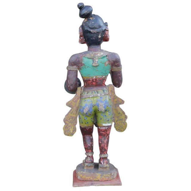 Antique Tribal Warrior Statue For Sale - Image 5 of 8