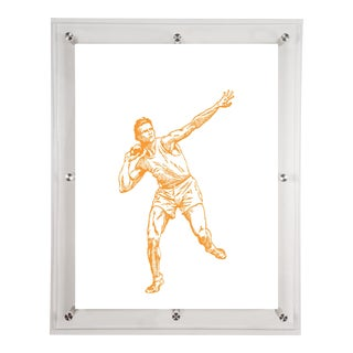 Mitchell Black Home Yellow Shot Put Art For Sale