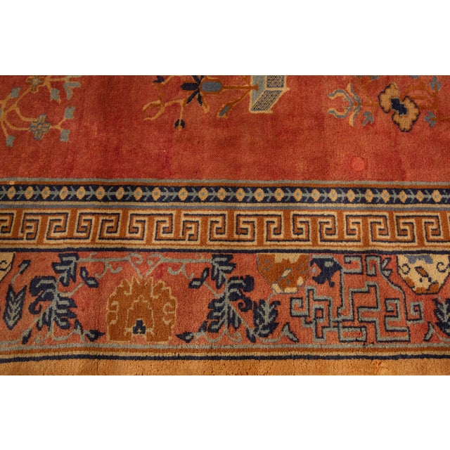 "Apadana-Antique Indo Chinese Rug, 12'0"" X 13'6"" For Sale - Image 9 of 11"