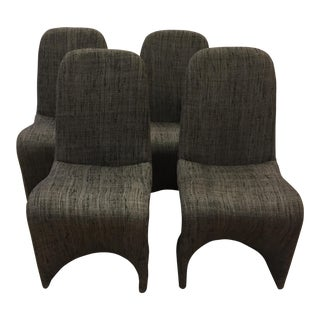 Panton Style Dining Chairs - Set of 4