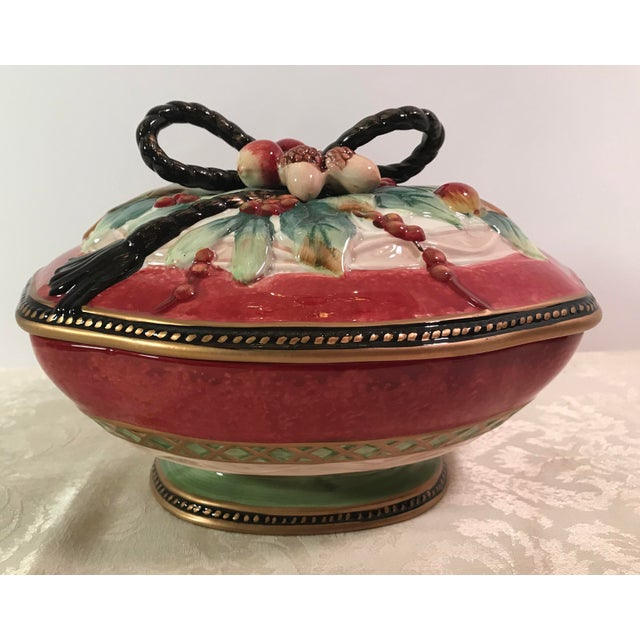 Fitz & Floyd Holiday Covered Serving Dish - Image 5 of 11