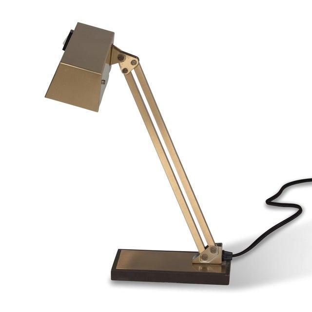 Vintage German 1960s Bronze Pivoting Desk Lamp - Image 3 of 10