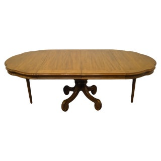 "Thomasville Furniture Legacy Collection 95"" Pedestal Dining Table 7821-732-2 For Sale"