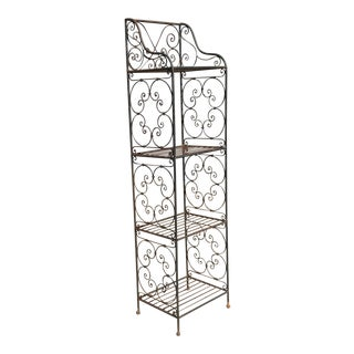 Scrolling Iron Etagere For Sale