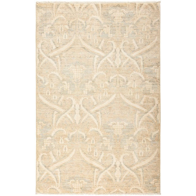 "Oushak, Hand Knotted Area Rug - 4' 0"" X 6' 1"" For Sale - Image 4 of 4"
