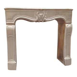 Louis XV French Limestone Mantel 18th Century For Sale