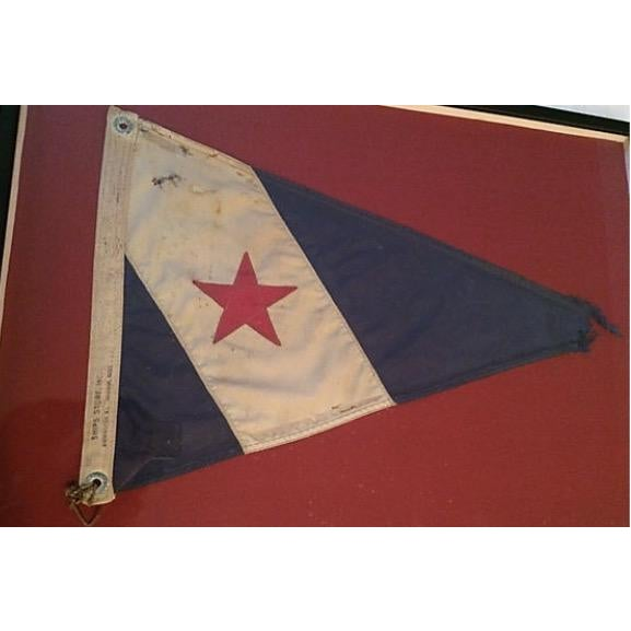 Contemporary Framed Cohasset Ma Yacht Club Burgee For Sale - Image 3 of 5