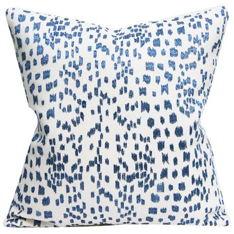"""2010s Brunswig & Fils """"Les Touches"""" Contemporary Embroidered Blue and White Leopard Pillow Cover For Sale - Image 5 of 5"""