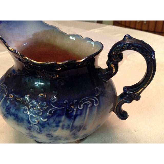 Antique Blue & White Porcelain Pitcher - Image 6 of 11