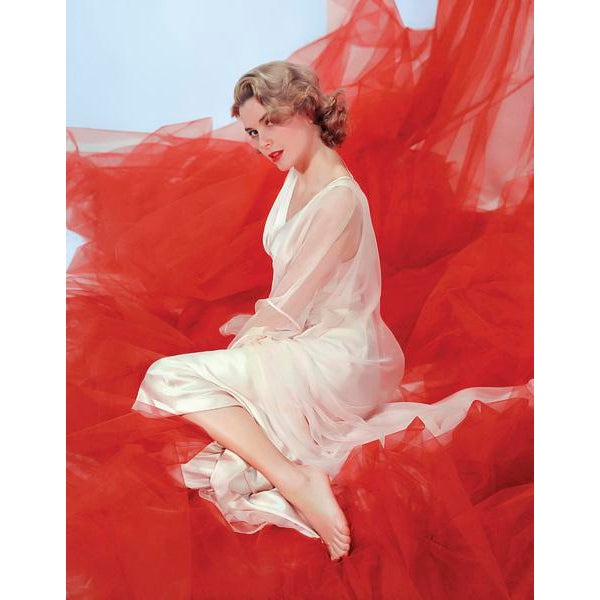 "Contemporary 1954 ""Grace Kelly in Nightgown"" Framed Print For Sale - Image 3 of 4"