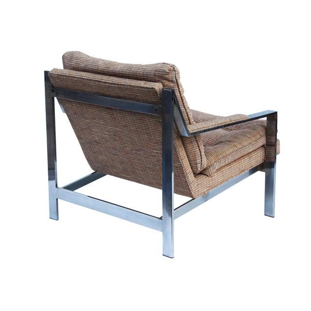 Cy Mann Cy Mann Chrome Flatbar Lounge Chairs, Pair For Sale - Image 4 of 11