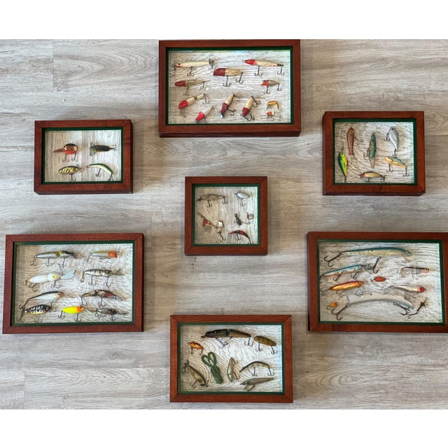 Vintage Fishing Lures in Shadow Boxes - Set of 5 For Sale - Image 6 of 6