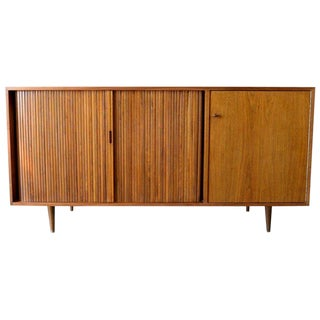 1965 Mid-Century Modern Milo Baughman for Glenn of California Tambour Door Credenza For Sale