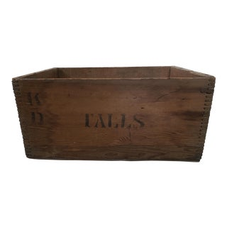 1950s Rustic Wooden Salmon Fish Crate For Sale