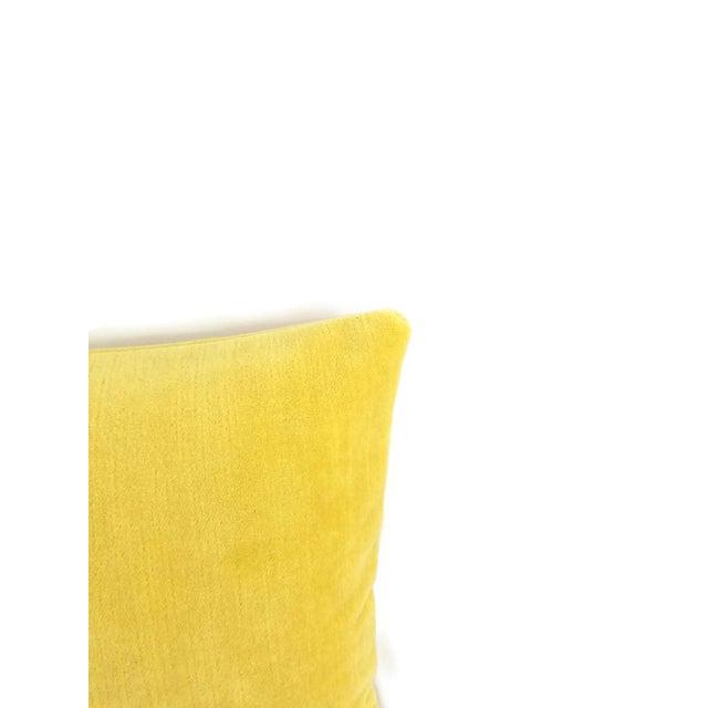 Contemporary Bellagio Lemon Velvet Lumbar Pillow Cover For Sale - Image 3 of 4
