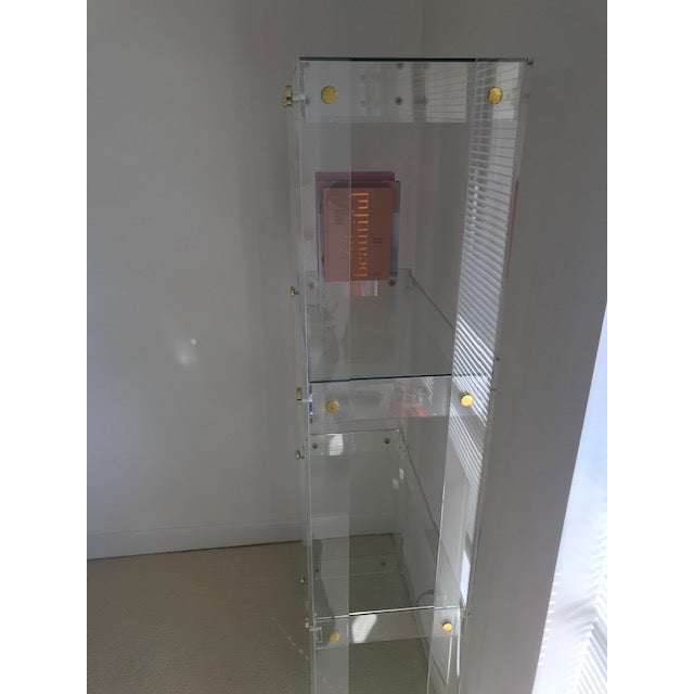 Hollywood Regency 1970's Mid Century Modern Lucite Bookcase For Sale - Image 3 of 6