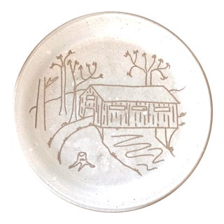 "Martz Marshall Studios ""Covered Bridge"" Serving Plate For Sale"