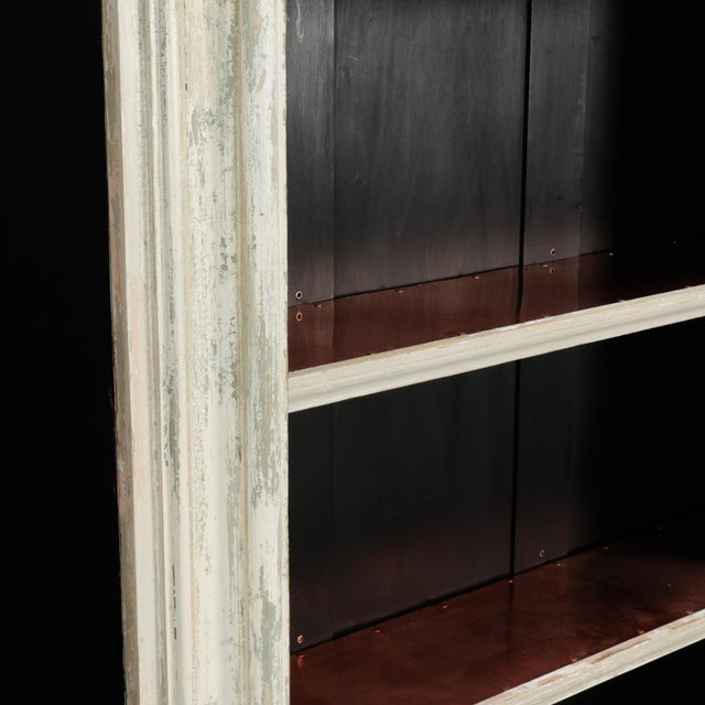 Copper 19th Century Door Frame Bookcase with Copper Lined Shelves For Sale - Image 7 of 11