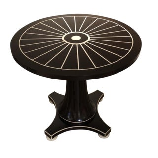 Transitional Mark Sikes for Henredon Cresent Table For Sale
