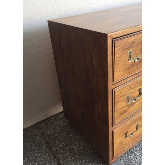 Henredon 1960s Vintage Henredon Artefacts Campaign Dresser For Sale - Image 4 of 6