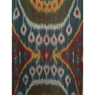 Handmade Silk Ikat Fabric For Sale