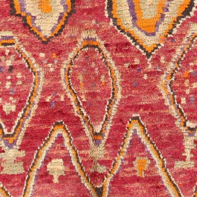 Islamic Vintage Moroccan Primitive Runner Rug - 4′5″ × 13′ For Sale - Image 3 of 7