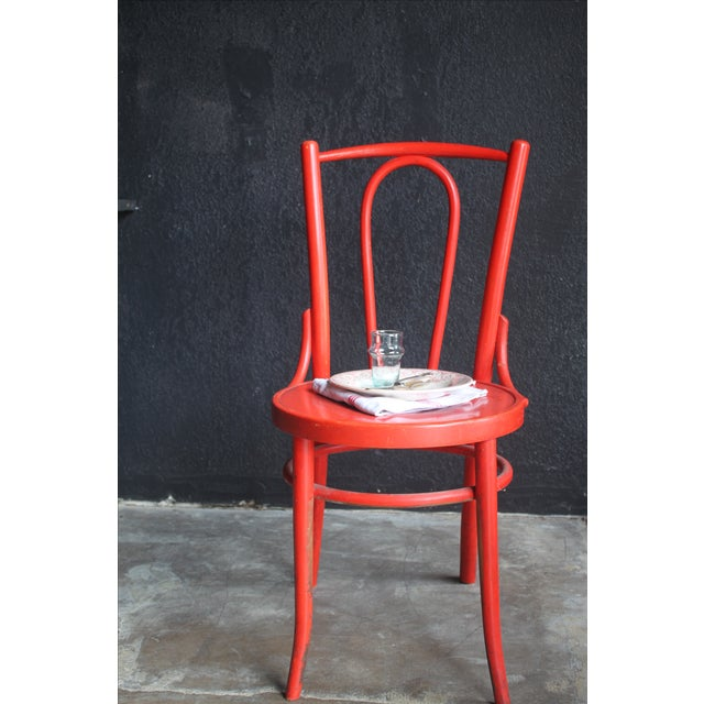 Red French Bentwood Dining Chair - Image 7 of 7