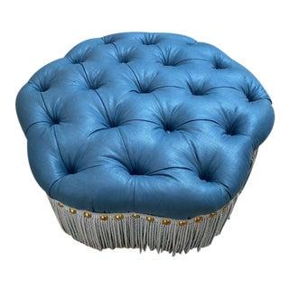 21st Century Cloverfield Blue Ottoman For Sale