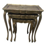 Image of Italian Florentine Nesting Tables - Set of 3 For Sale