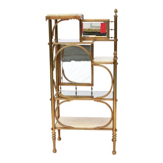 Victorian Brass & Marble Etagere For Sale