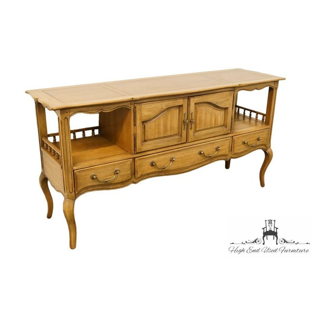 """Thomasville Furniture Chateau Collection 64"""" Country French Server / Buffet 995-13 32"""" High 64.5"""" Wide 18.5"""" Deep We..."""