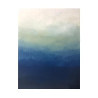 "Abstract Blue Ombré Painting - 36x48"" For Sale"
