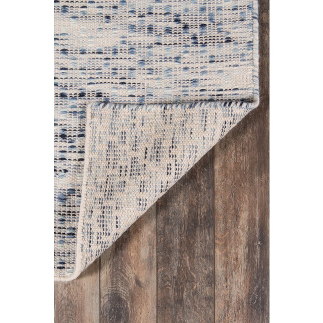 "2010s Erin Gates Dartmouth Bartlett Blue Hand Made Wool Runner 2'3"" X 8' For Sale - Image 5 of 7"