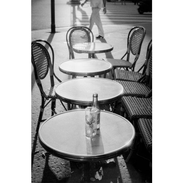 """Black & White Photo """"Tables"""" in Paris, France 2000 - Image 2 of 3"""