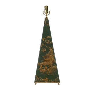 1980s Chinoiserie Obelisk Lamp For Sale
