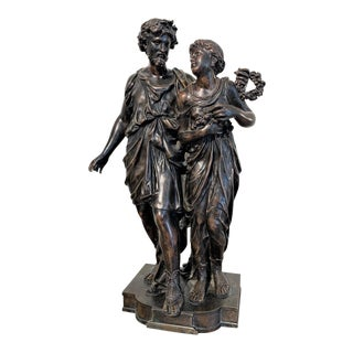 Henry Etienne Dumaige, 19th Century French Bronze Grouping For Sale