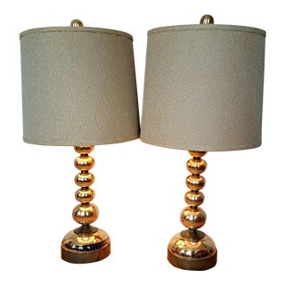 Mid Century Hollywood Regency Table Lamps - A Pair