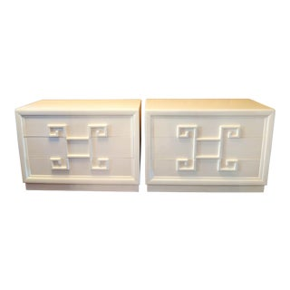 Kittinger Mandarin Greek Key Chests of Drawers - a Pair