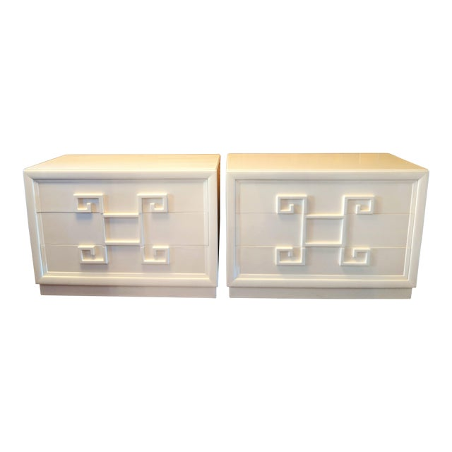Kittinger Mandarin Greek Key Chests of Drawers - a Pair For Sale