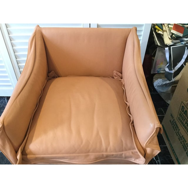 Orange 1990s Vintage Leather Chairs- a Pair For Sale - Image 8 of 13