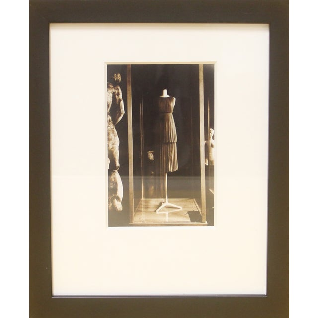 Framed Photograph, Madame Gres Exhibition in Paris For Sale