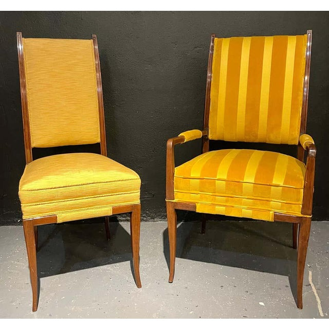 Mid-Century Modern Mid-Century Modern Six Tommi Parzinger Dining Chairs, Originals For Sale - Image 3 of 13