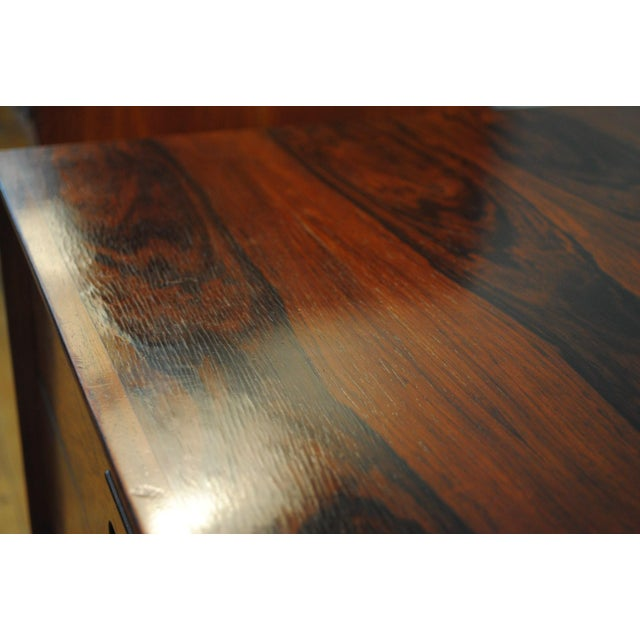 Danish Brazilian Rosewood 4 Drawer Nightstands- A Pair For Sale - Image 9 of 10