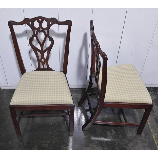 """1990s English Chippendale Dining Chairs by """"Restall, Brown & Clennell Ltd"""" - Set of 12 For Sale - Image 4 of 13"""