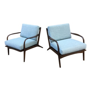Mid Century Open Armchairs- A Pair For Sale